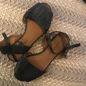 Lucky Brand black peep toe sandals
